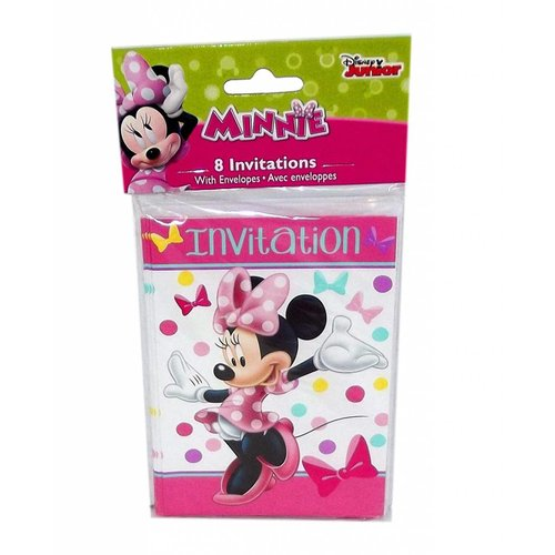 *Minnie Mouse Bows Invitations 8ct