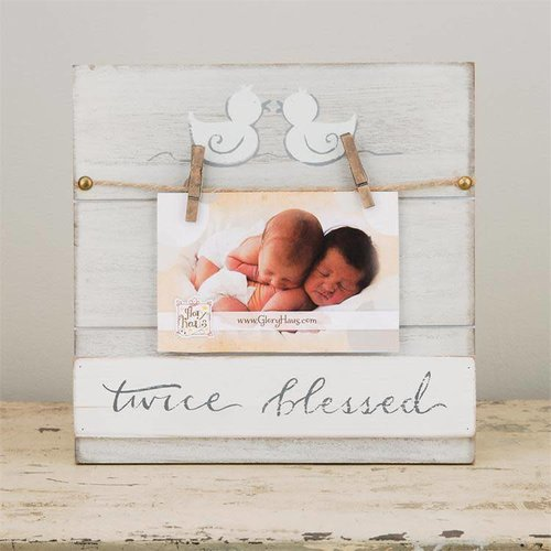 Glory Haus Twice Blessed Twins Photo Frame
