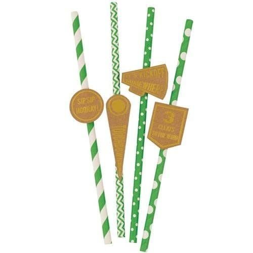 *Game Day Paper Straws 20ct