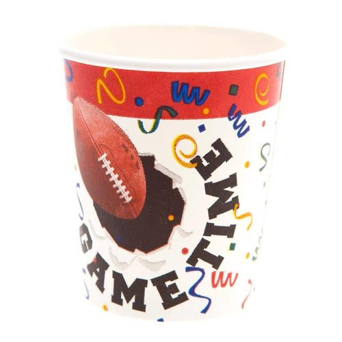 *Football GAME TIME 7oz CUPS 8ct
