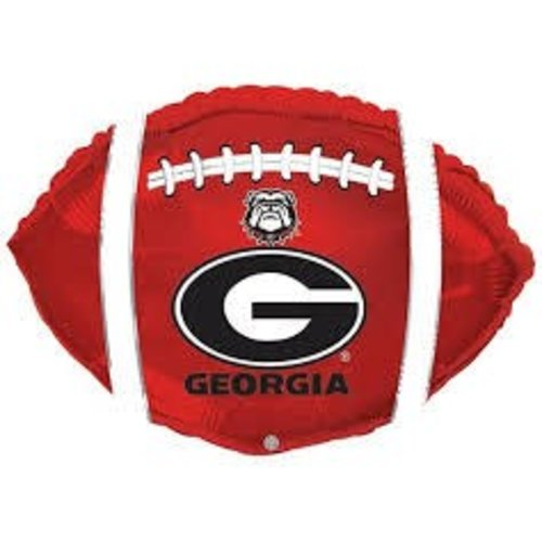 *Georgia Bulldog Football Shape Mylar Balloon