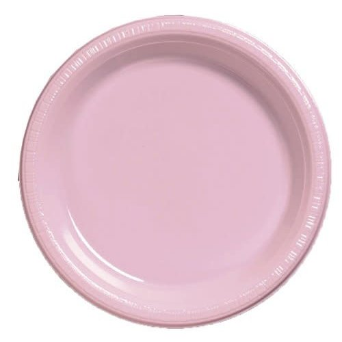 "*Classic Pink 9"" Plastic Dinner Plates 20ct"