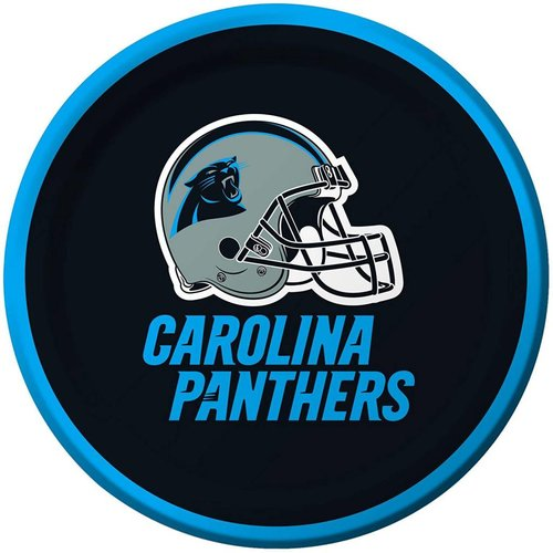 "*Carolina Panthers 7"" Dessert Plates 8ct"