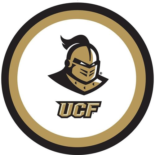 "*UCF Knights 9"" Dinner Plates 10ct"