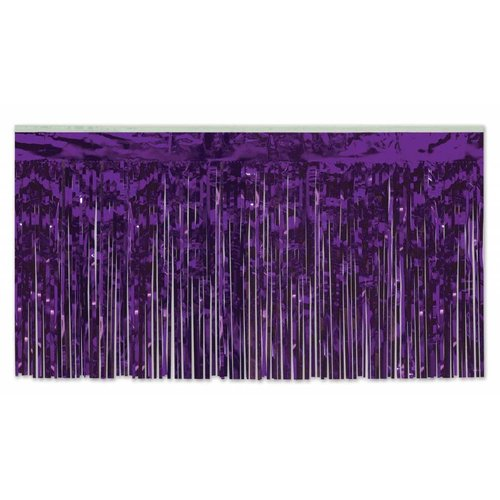 Purple Metallic Table Skirting