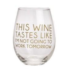 EverEllis This Wine Taste Stemless Wine Glass
