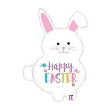 "*Easter Bunny 32"" Super Shape Mylar Balloon"