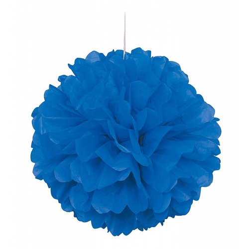 "*Royal Blue 16"" Tissue Puff Ball"
