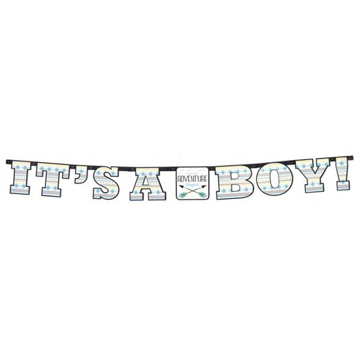 The Adventure Begins Boy Banner