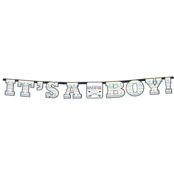 The Adventure Begins Boy Banner