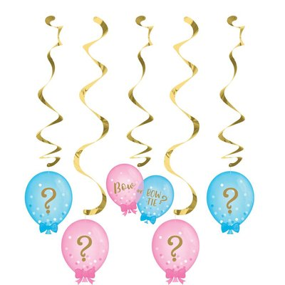 *Gender Reveal Balloons Dizzy Danglers 5ct