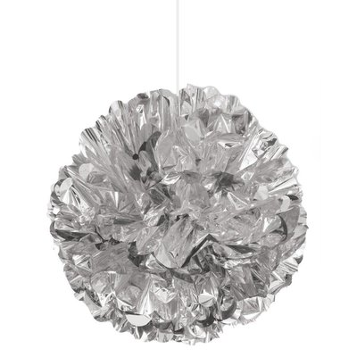 "*Silver Foil 16"" Puff Ball Decoration"