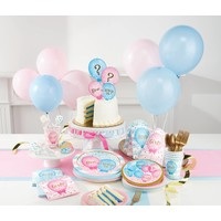 "*Gender Reveal Balloons 9"" Dinner Plates 8ct"
