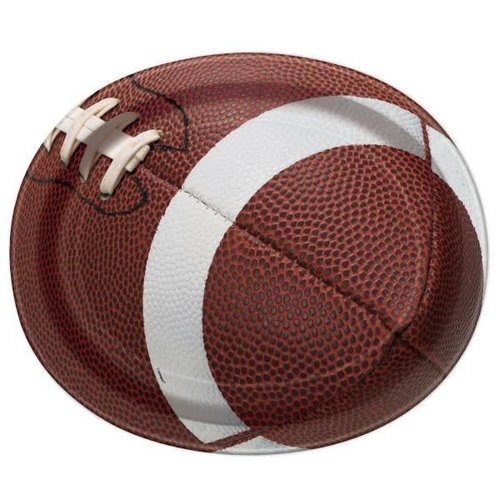 Football Oval Party Plate