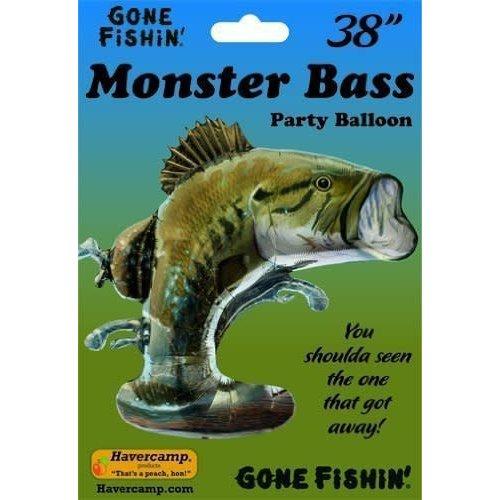 """Monster Bass Balloon 38"""""""