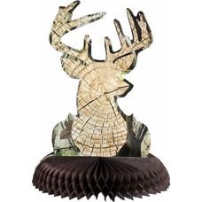 Cut Timber Buck Centerpiece