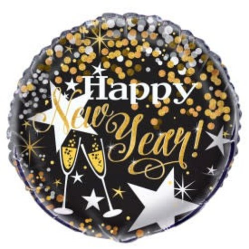 Glittering New Years Mylar Balloon