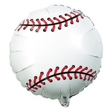 "*Baseball 18"" Qualatex Mylar Balloon Flat"
