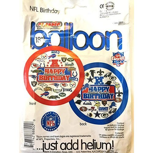 "*NFL Football Teams Birthday 18"" Mylar Balloon"