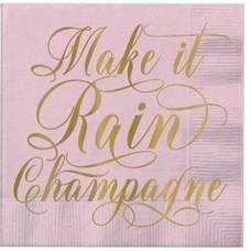 Make It Rain Champagne Beverage Napkin