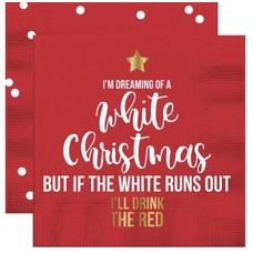 I'm Dreaming White Christmas Beverage Napkin