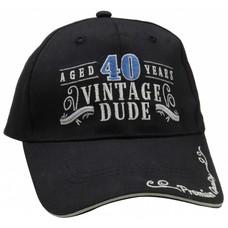 *Vintage Dude 40 Black Hat