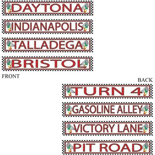 *NASCAR Racing Street Signs 4ct
