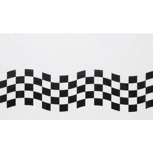 *Black & White Check Paper Tablecover