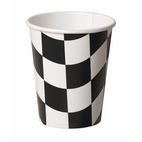 *Black & White Checks 9oz Cups