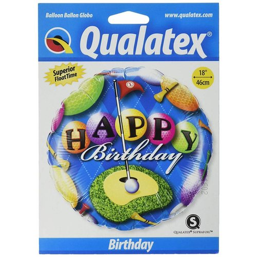"*Happy Birthday Golf 18"" Mylar Balloon"