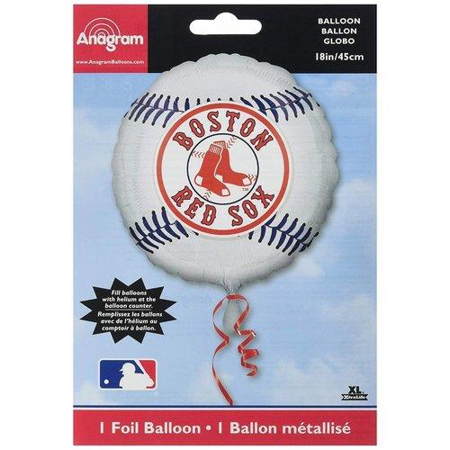 *Boston Red Sox White Baseball Mylar Balloon