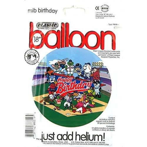 *Major League Baseball Birthday Mylar Balloon