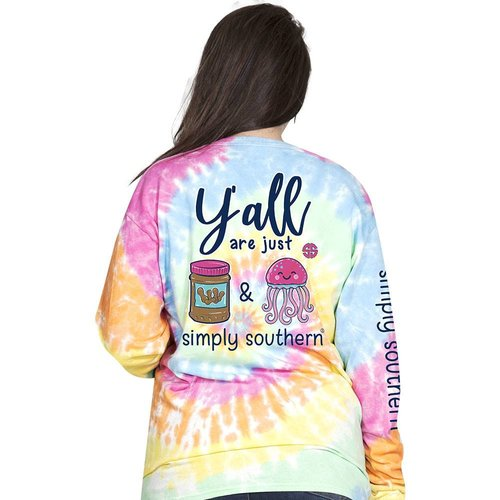 Long Sleeve Preppy PBJ Tiedye