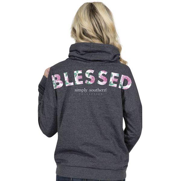 Blessed Cowl Neck Sweatshirt