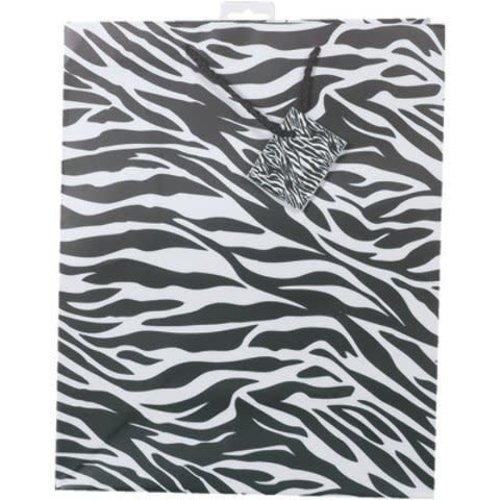 *Black & White Zebra Large Gift Bag