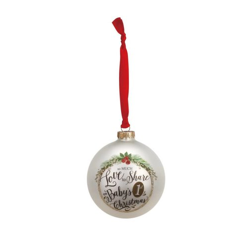 Baby's 1st Christmas Glass Ball Ornament