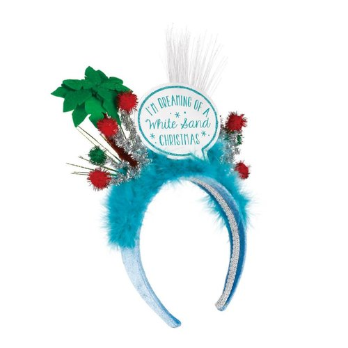 Lit White Sand Christmas Headband