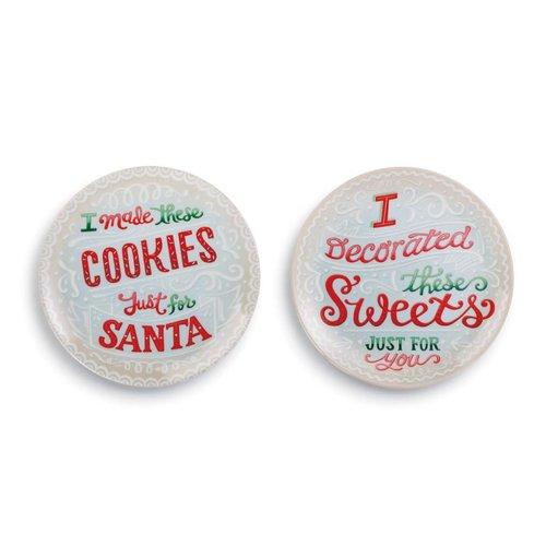 Santa and Me Melamine Plates Set of 2