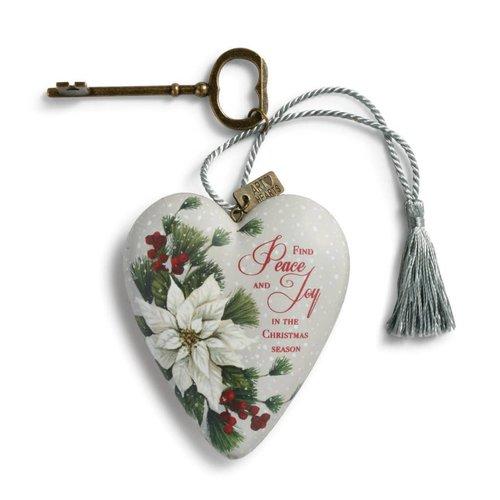 Peace and Joy Art Heart