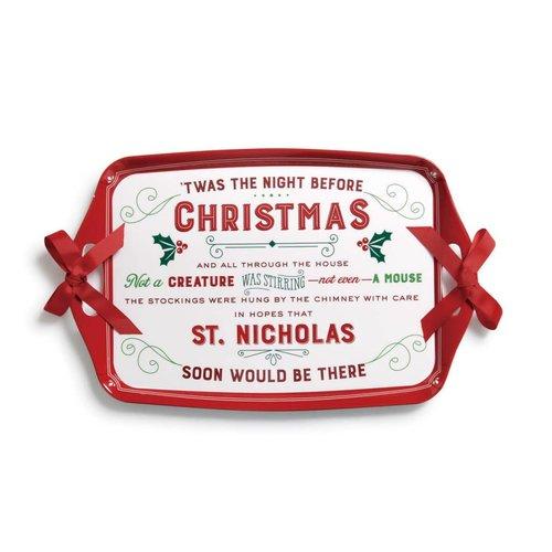 Night Before Christmas Melamine Tray