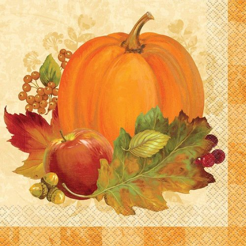 **Pumpkin Harvest Lunch Napkin 16ct