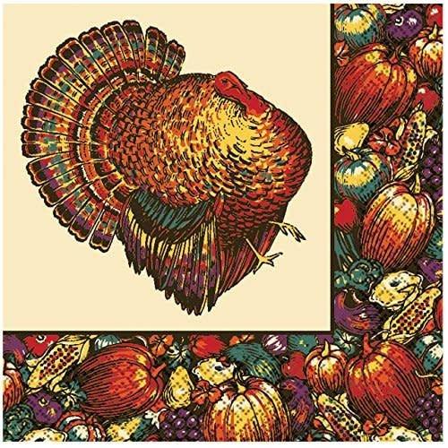 **T/S Autumn Turkey Lunch Napkin 20ct
