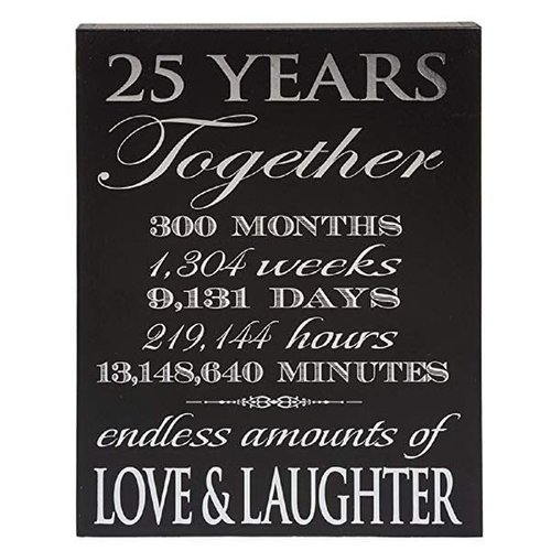 25th Anniversary Wood Sign