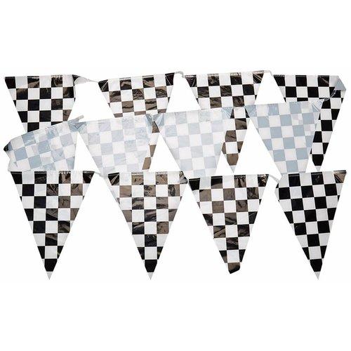 Checkered Flag Pennant Banner