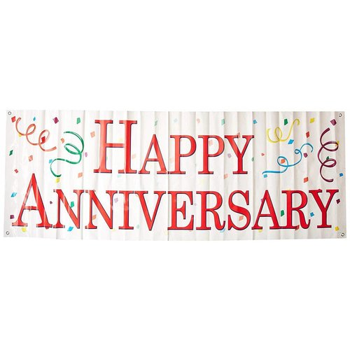 Happy Anniversary Sign Banner