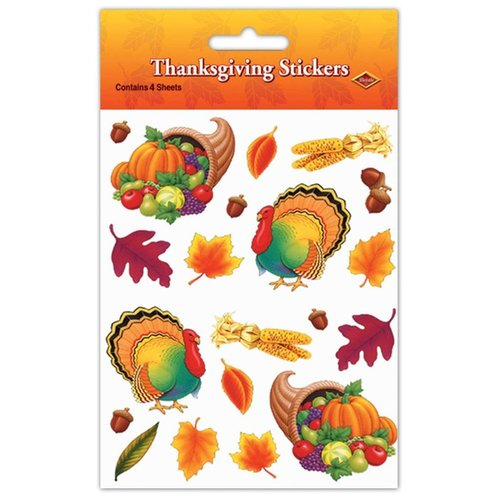 Thanksgiving Stickers 4 sheets