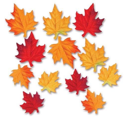 Deluxe Fabric Fall Leaves 12ct