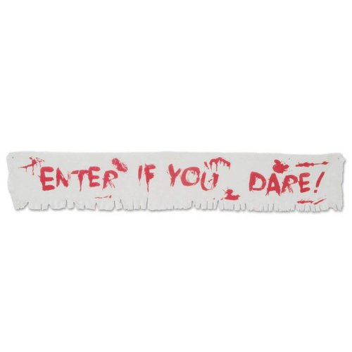 Enter if You Dare! 6ft Fabric Banner