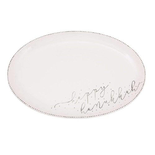 Happy Hanukkah Ceramic Platter