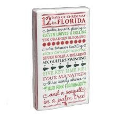 Occasionally Made 12 Days of Florida Christmas Guest Towel